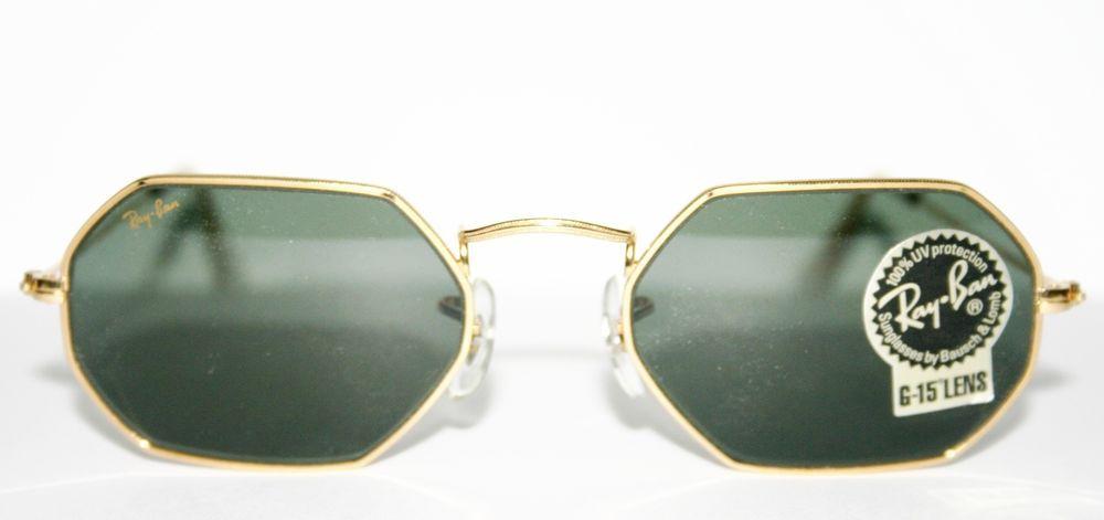 03216fd897 Nerdy geek --  Vintage W1535 Ray Ban Bausch   Lomb G 15 Octagon Arista Sunglasses  Gold  RayBan  ARISTA  299.77