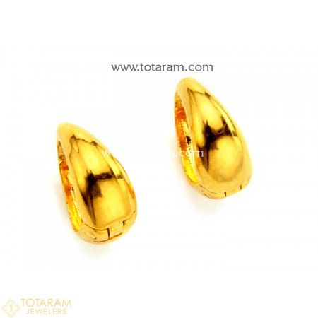 Gold Baby Hoop Earrings Ear Bali in 22K Gold 235 GER7291 Buy