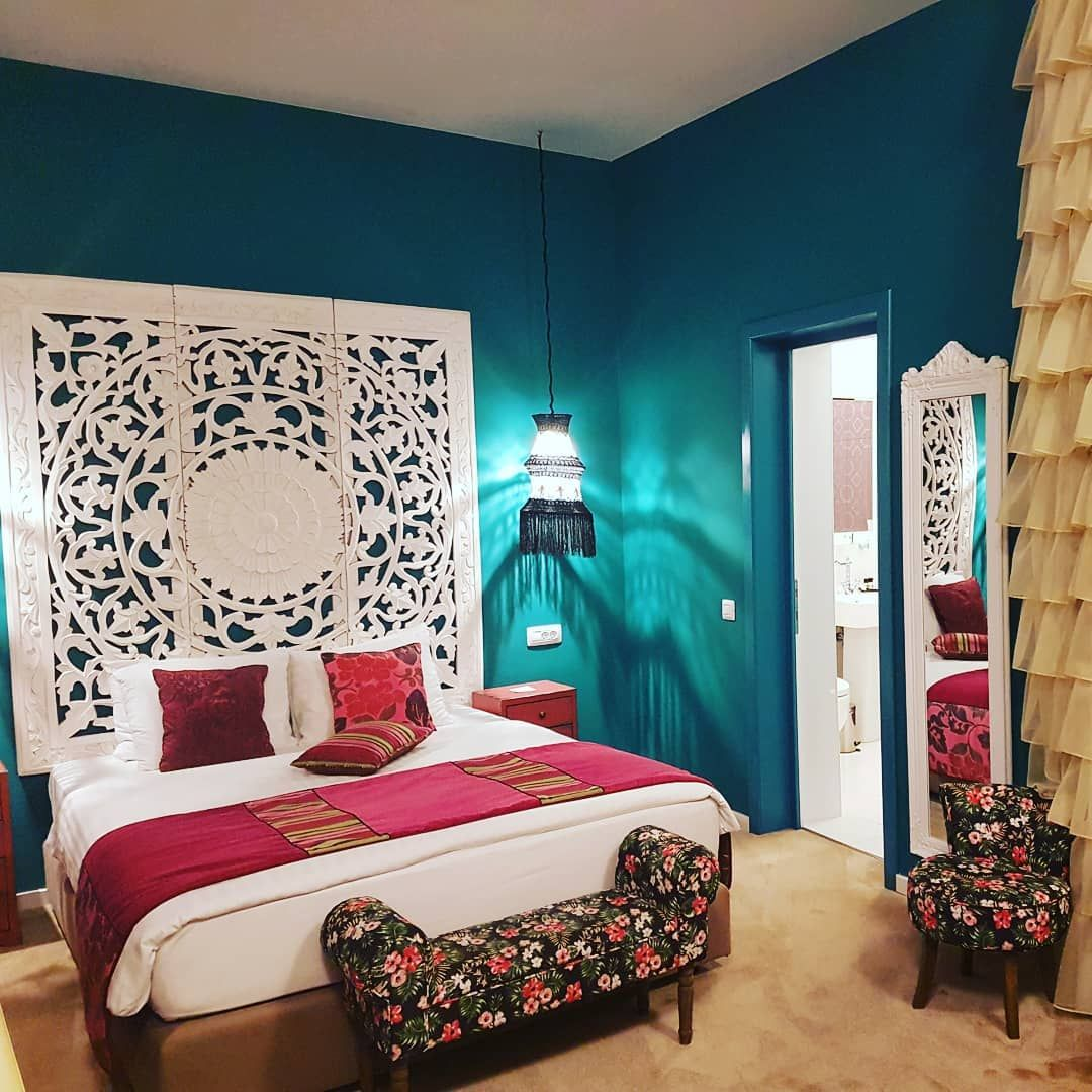 Master bedroom turquoise brights | Bedroom turquoise ...