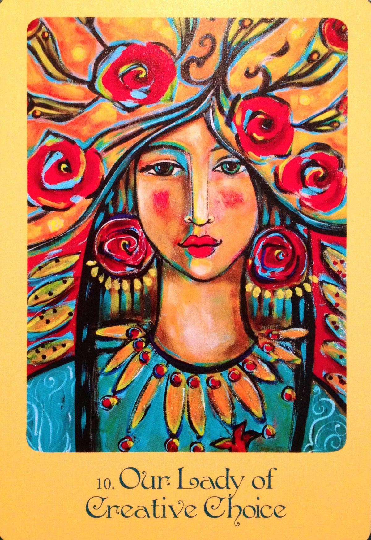 Nuestra señora de la opción creativa, de la cubierta de la tarjeta de Oracle de la madre Maria de Alana Fairchild y de Shiloh Sophia McCloud
