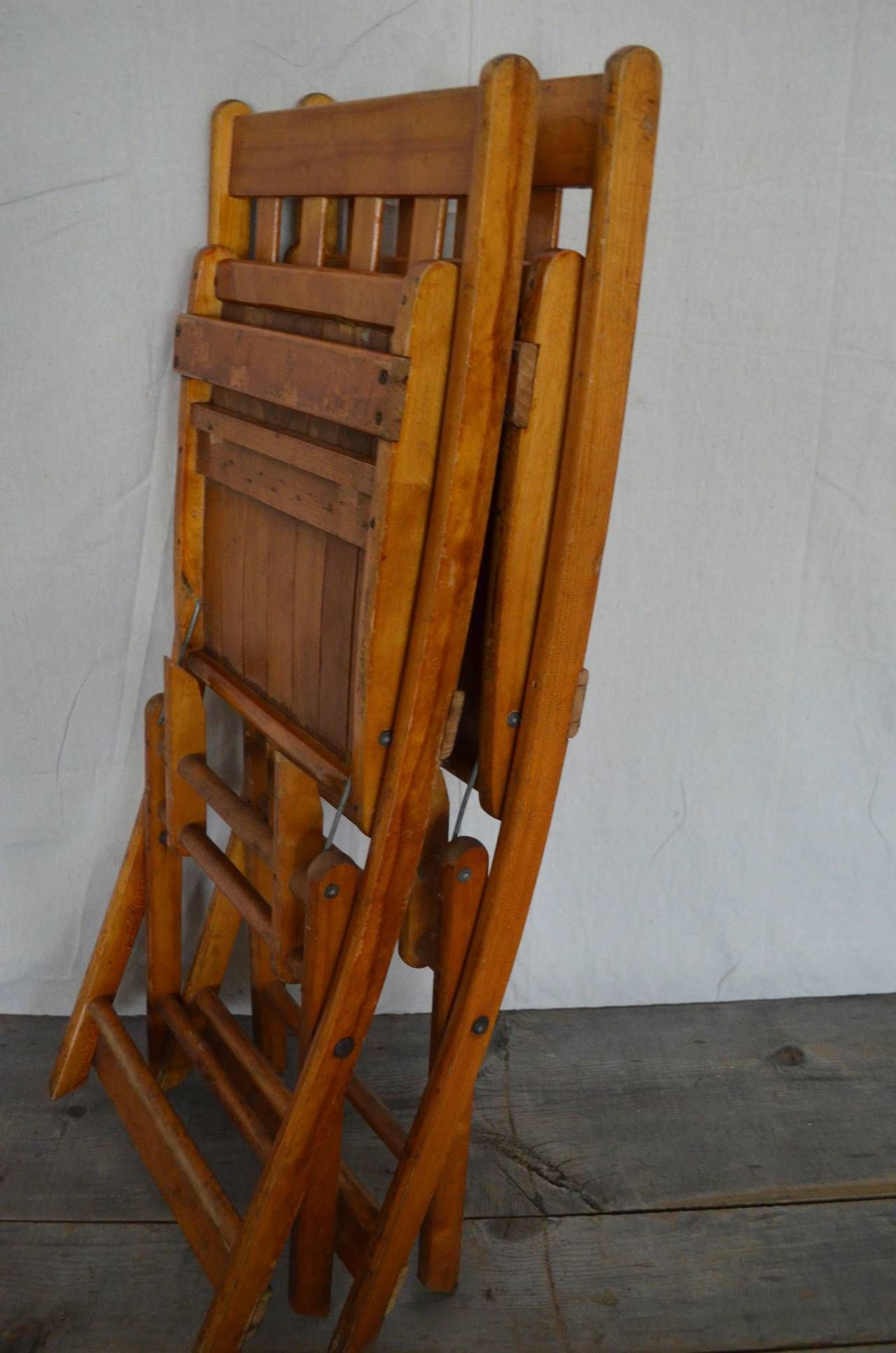 1930s Maple Folding Chair from Midwestern Armory 300 avail
