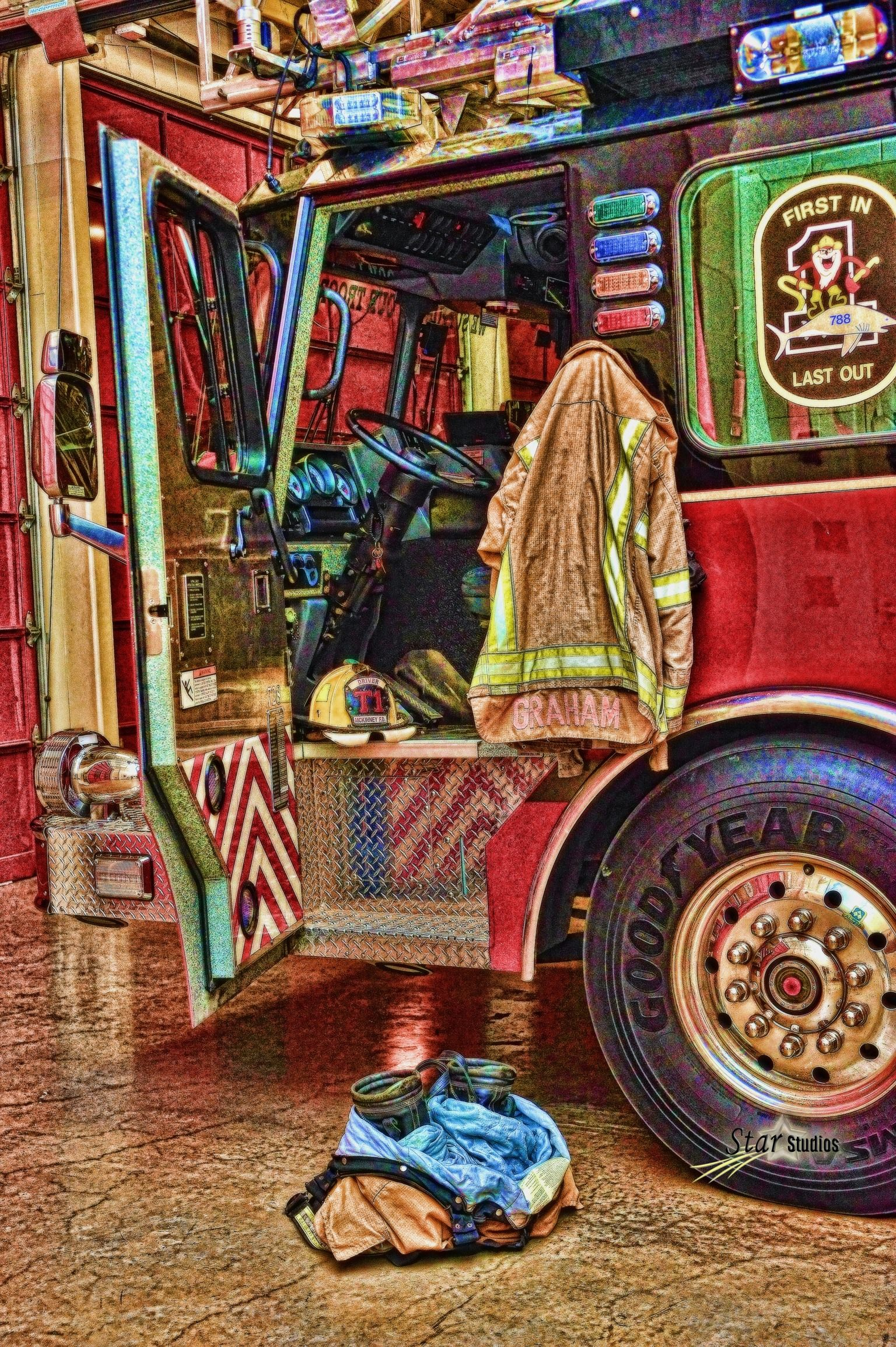 McKinney Firefighters portrait turned into an animation
