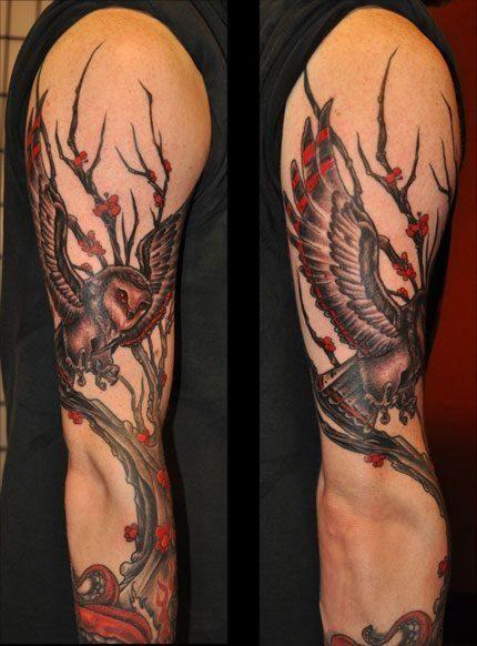 owl in tree tattoo owl tree tattoo random pinterest tattoo rh pinterest ca Feminine Owl Tattoos Owl Tattoo Meaning
