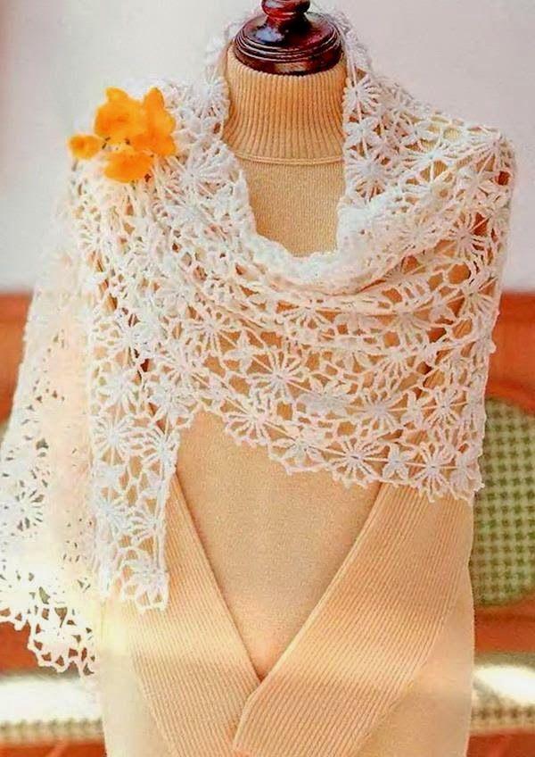 Gorgeous Crochet Lace - free pattern! | CrochetHolic - HilariaFina ...
