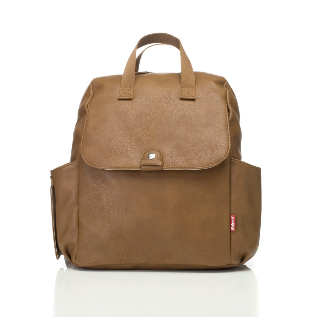 Robyn Faux Leather Diaper Tan Faux Leather Diaper Bag Vegan Leather Backpack Leather Diaper Bags