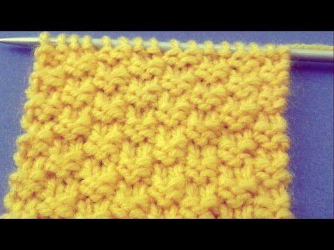 تريكو يدوي للميتدئين غرزة حبة الحمص Designer Knitting Patterns Knitting Designs Knitting