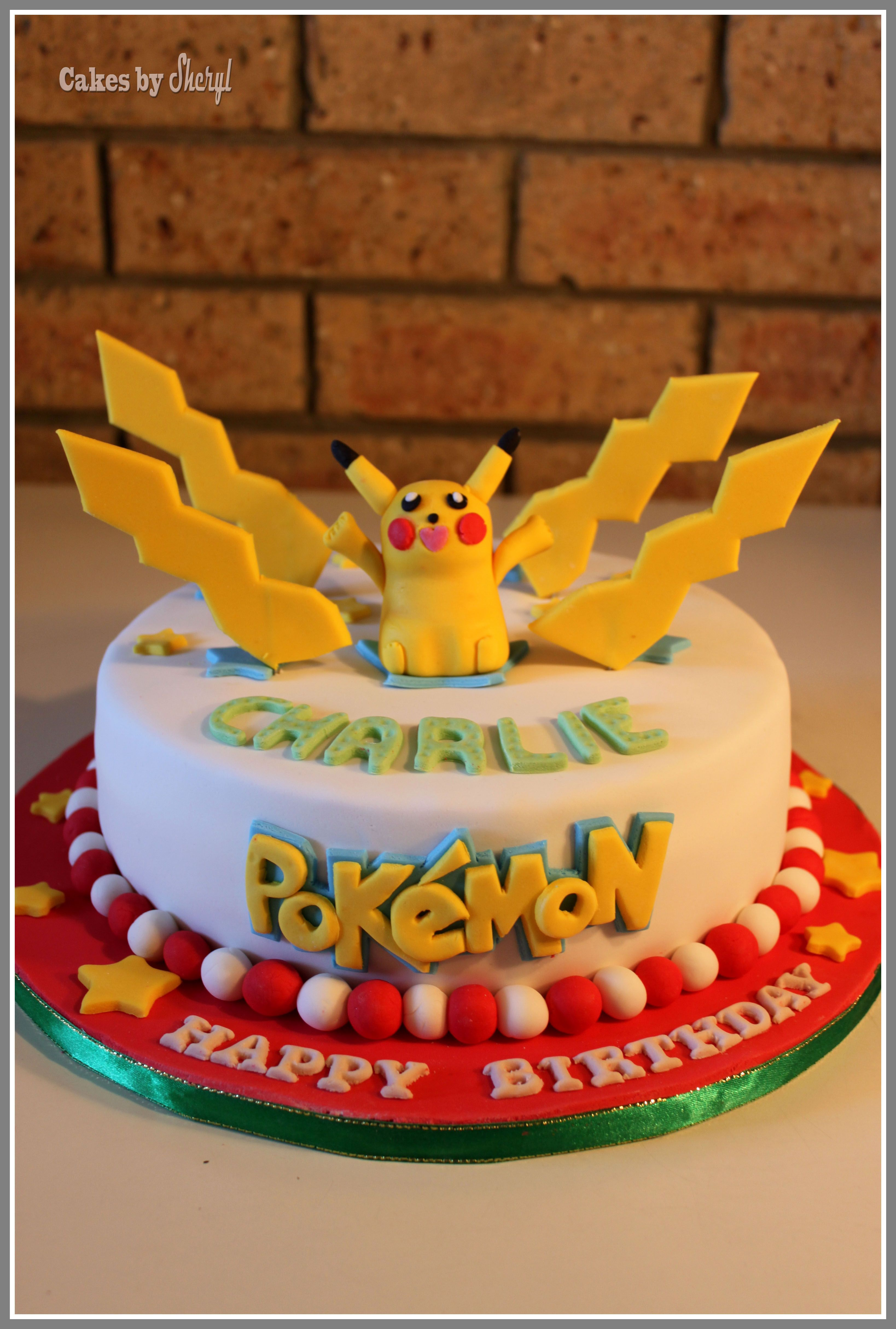 Pikachu cake idea for Craig who is not a kid Cakes for kids
