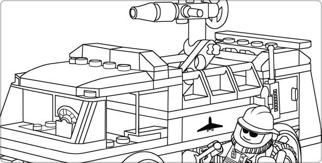 Lego Com City Downloads Coloring Pages Coloring Page Fire Truck Lego Coloring Pages Lego Coloring Coloring Pages