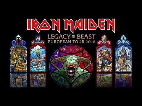 Iron Maiden Legacy Of The Beast European Tour 2018 Tickets On Sale Now Iron Maiden Posters Iron Maiden Iron Maiden Eddie