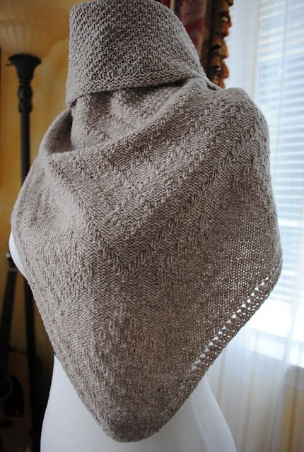 Guernsey Knitting Patterns : Reversible Guernsey stitch shawl pattern by Lidia Tsymbal Guernsey, Shawl a...