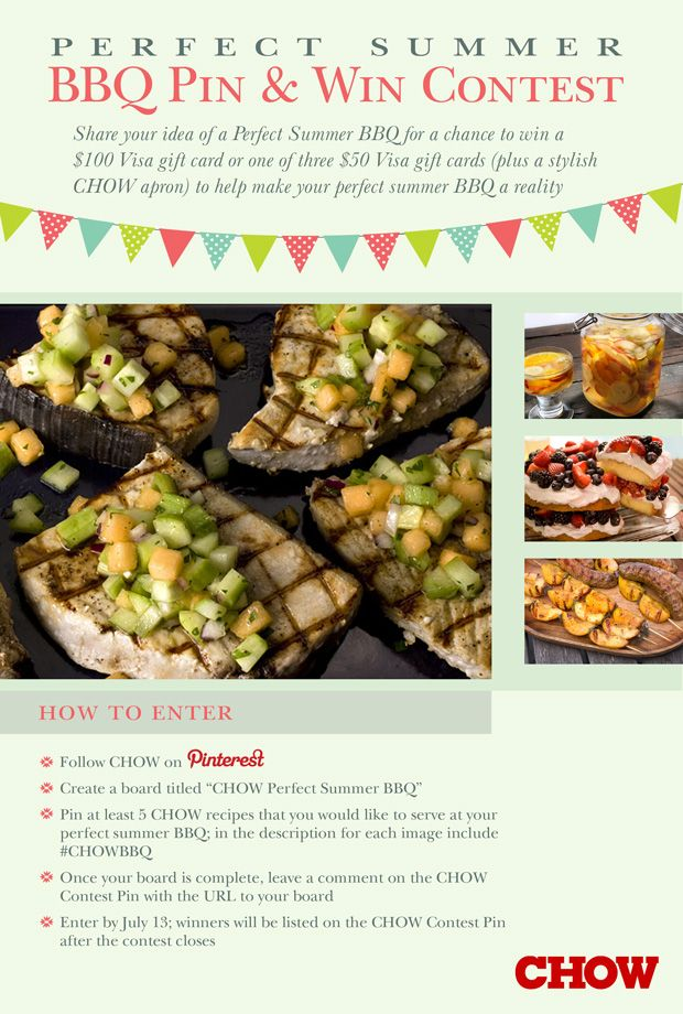 Pin Your Favorite CHOW Recipes, Win a Dream BBQ!