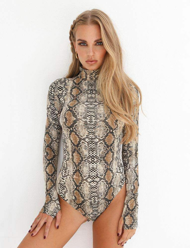 fed147fdb58f23 Snake Skin Sexy Club Jumpsuits in 2019   Jumpsuits   Bodysuit, Long ...