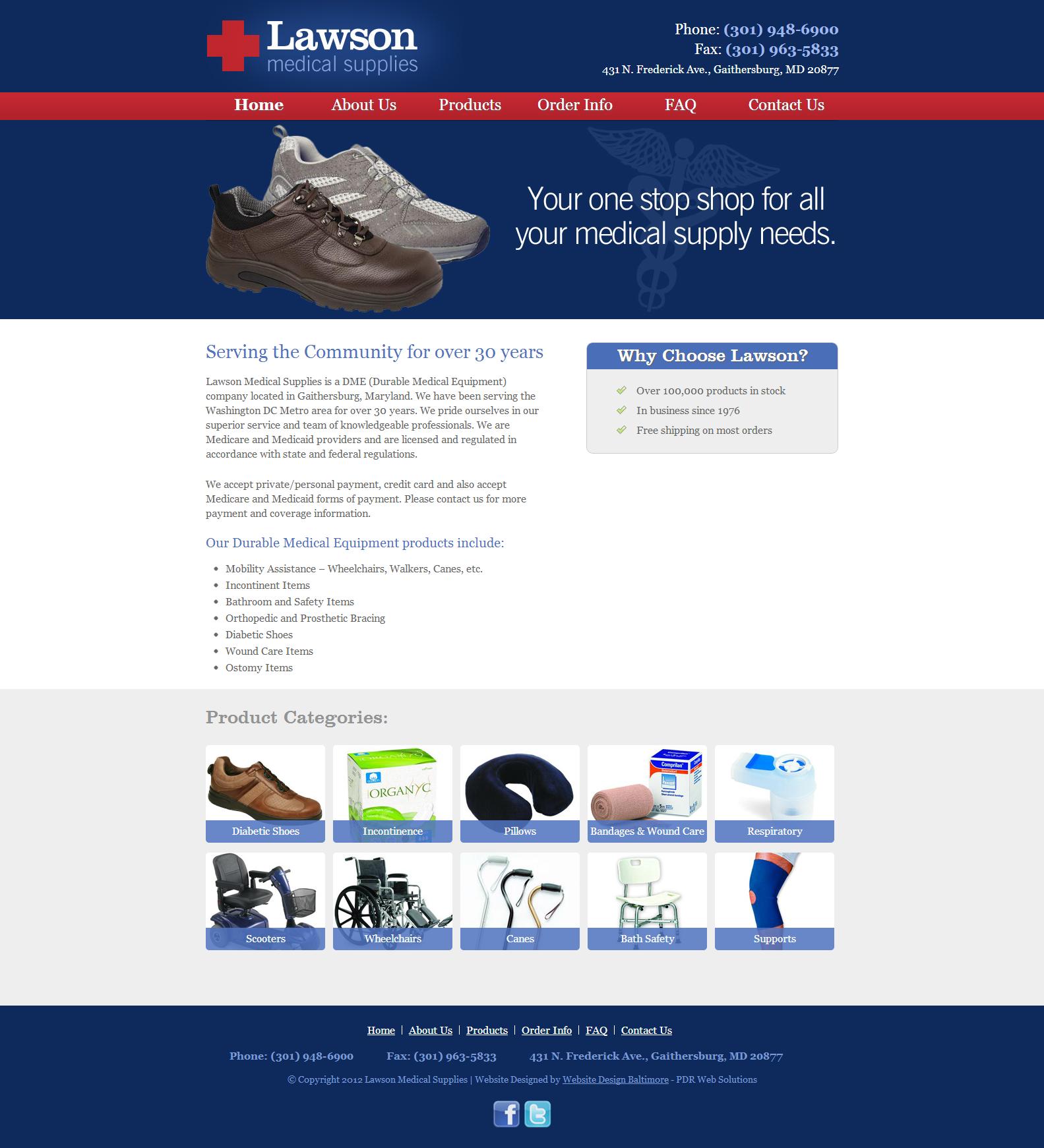 Lawson Medical Supplies Webdesign Portfolio Medicalsupply Portfolio Web Design Medical Supplies Web Design