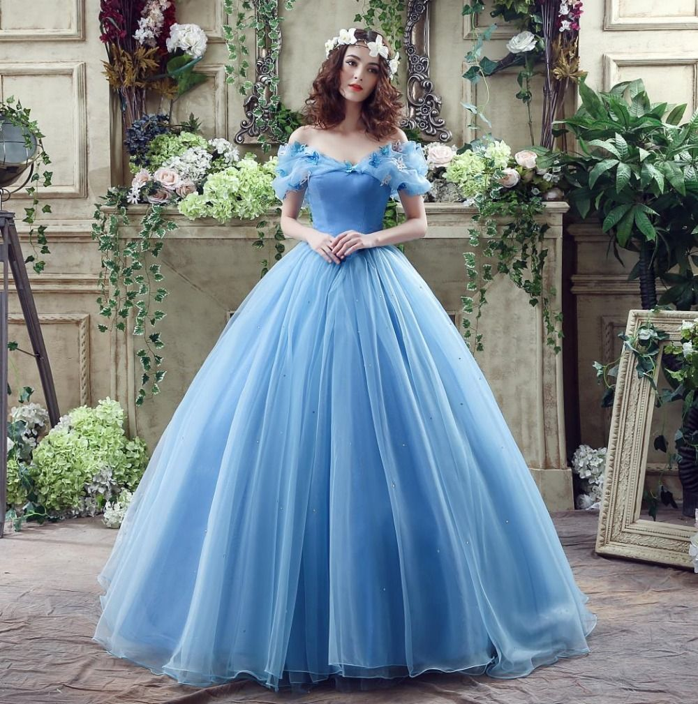 powder blue, off-shoulder, fairy-ethereal | QUINCE | dresses ...