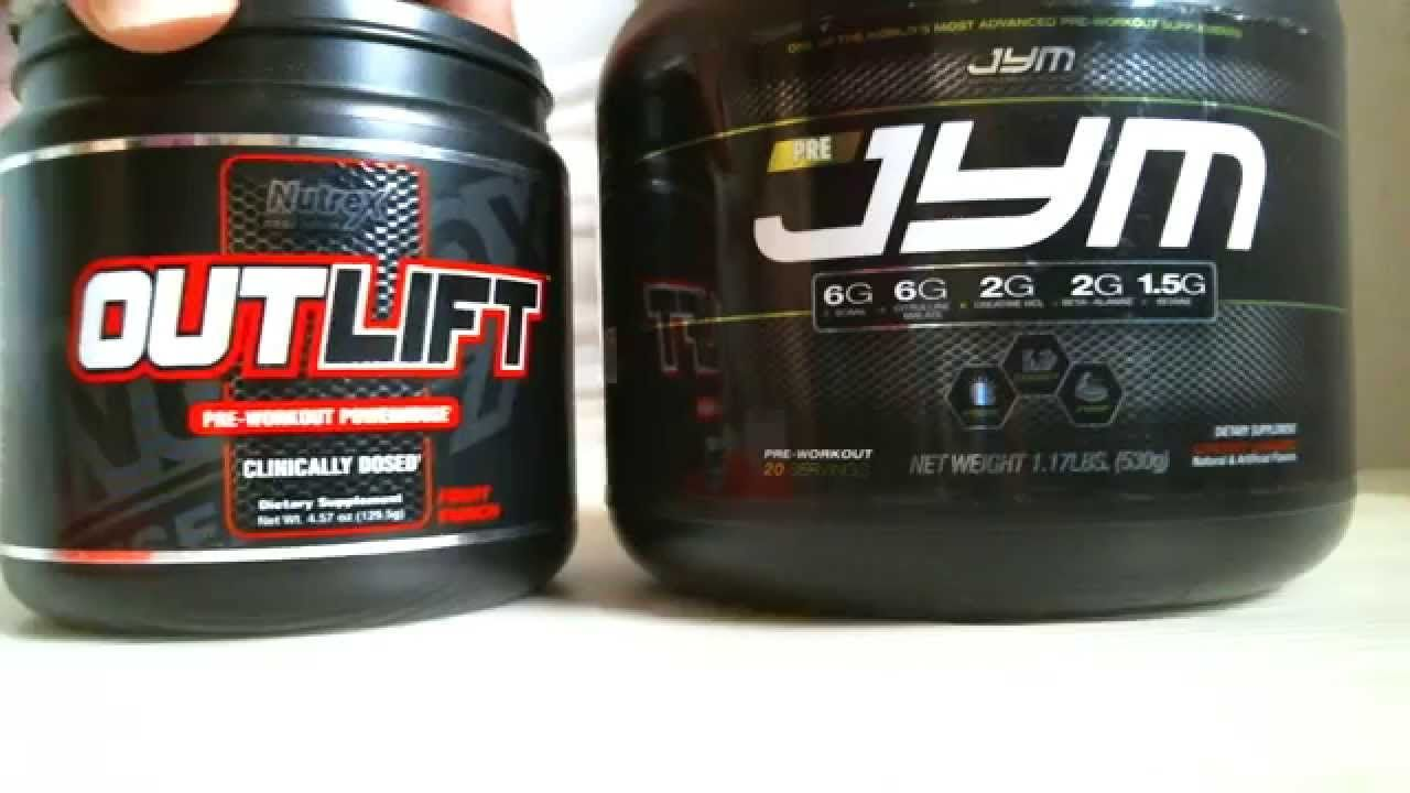 PRE JYM VS OUTLIFT pre-workout supplements | supplements ...