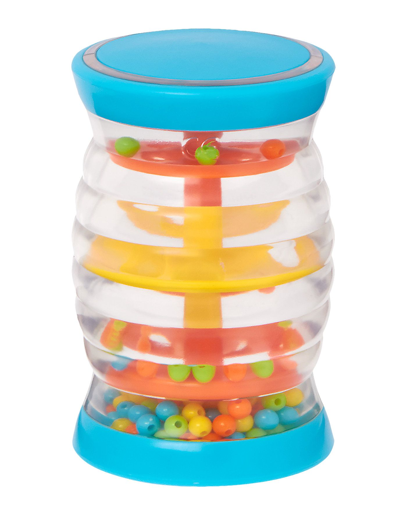 Your child will be mesmerized by the sight and sound of the colorful beads as they cascade down this mini rainstick.  Babies will also enjoy rolling this musical instrument on the ground. $8.00