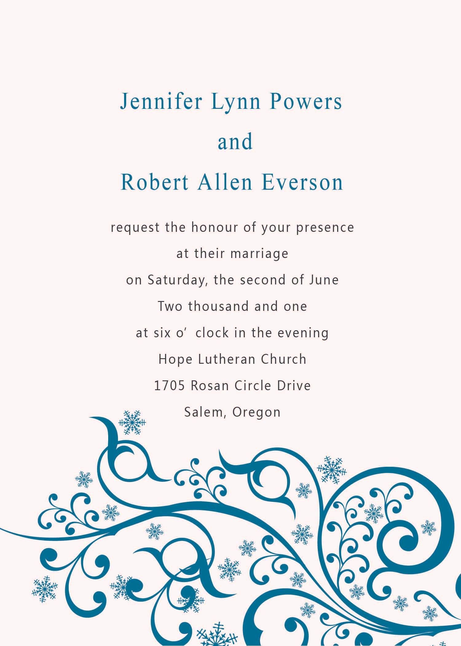 Engagement Party Invitation Word Templates Free Card  Wedding