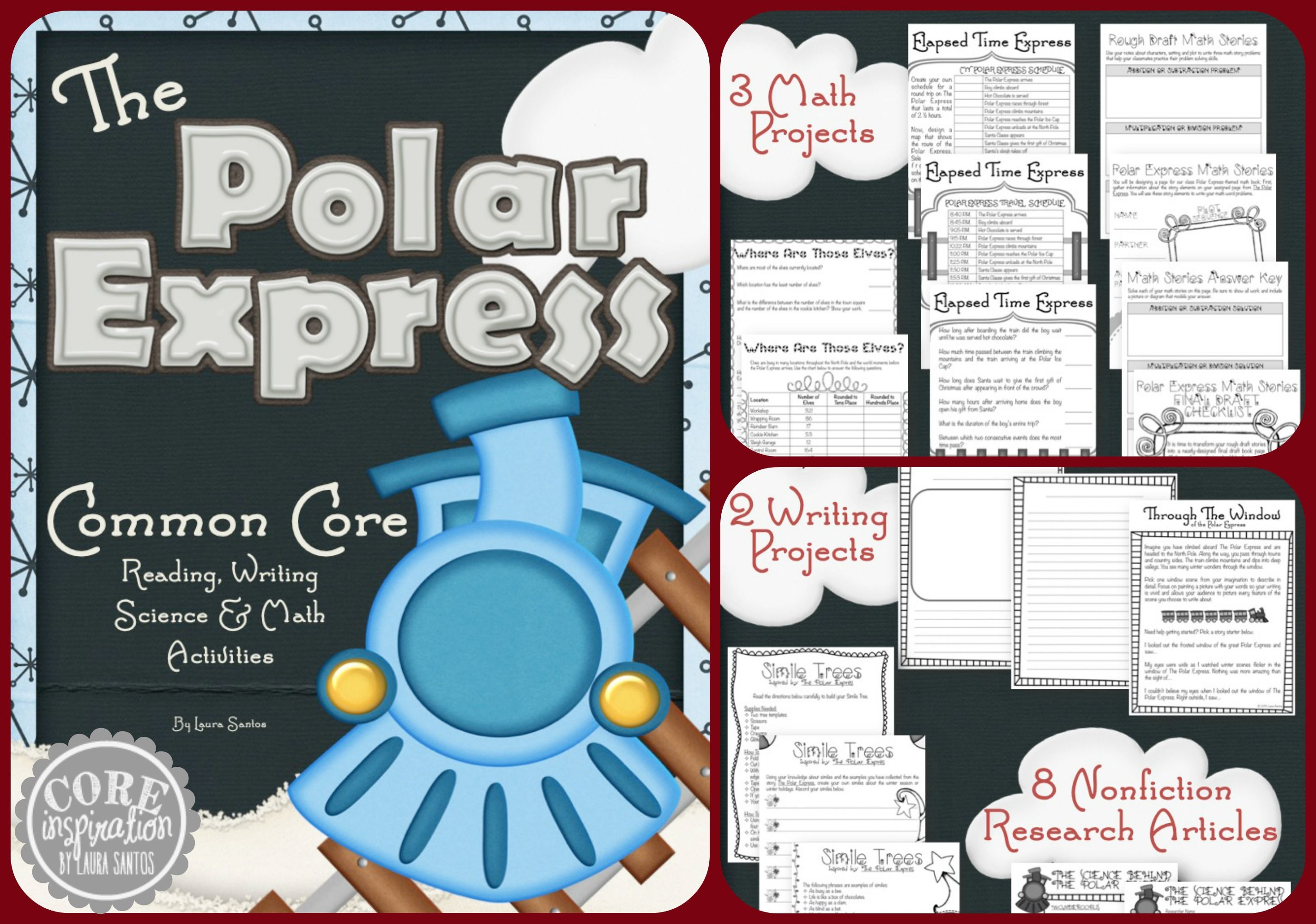 The Polar Express Reading Writing And Math Project Pack