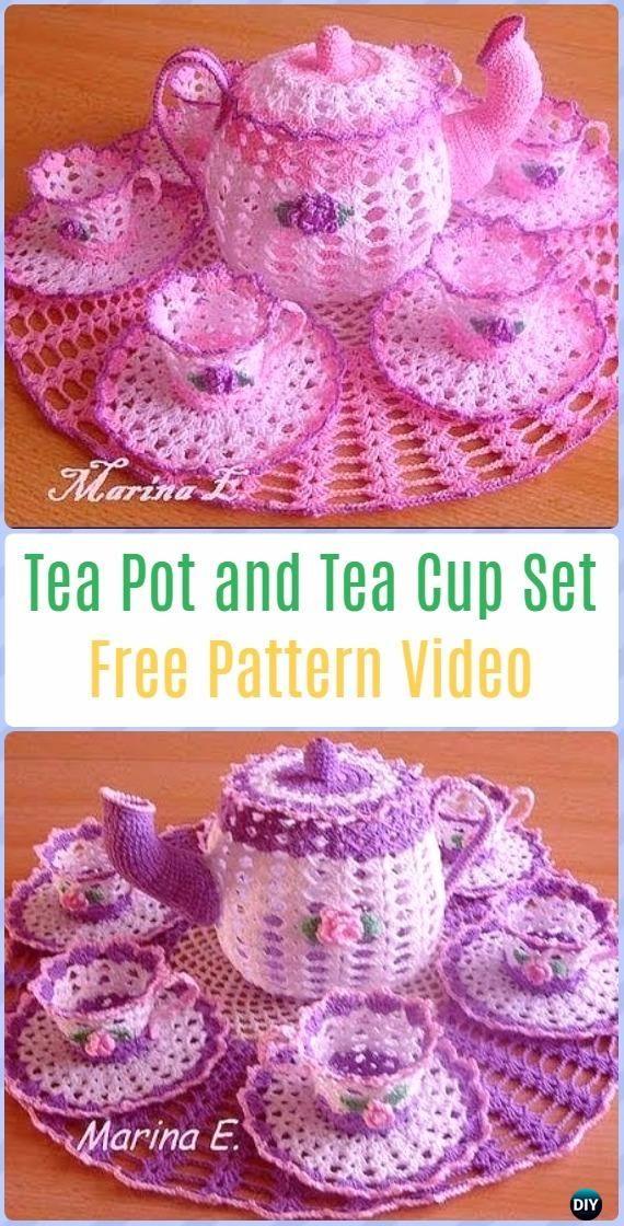 Crochet Teapot And Tea Cup Set Free Pattern Video Crochet Teacup