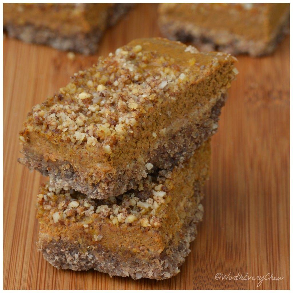 Pumpkin Pie Bars Desserts: Pumpkin Pie Bars; Paleo And Gluten Free! I'll Use A Flax