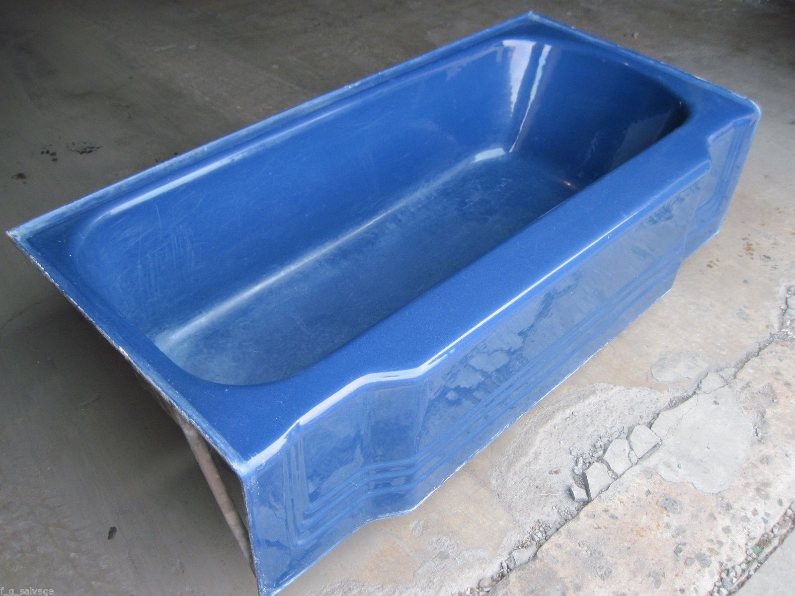 Antique Vintage American Standard Pembroke Navy Blue Bathtub 66 ...