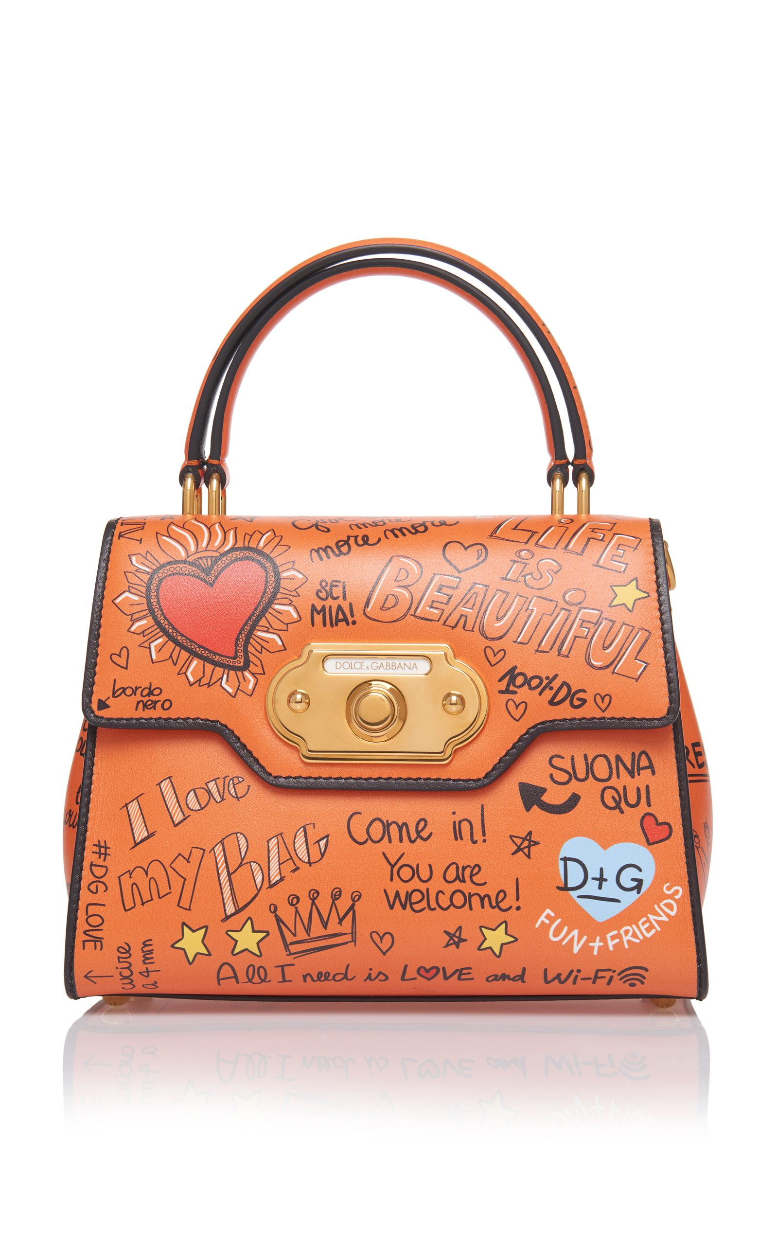 Dolce Gabbana Medium Graffiti Welcome Bag