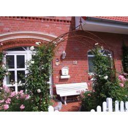 Photo of Pergola ad arco rosa arco in metallo arco da giardino rosone con punta di giglio 1,80 m