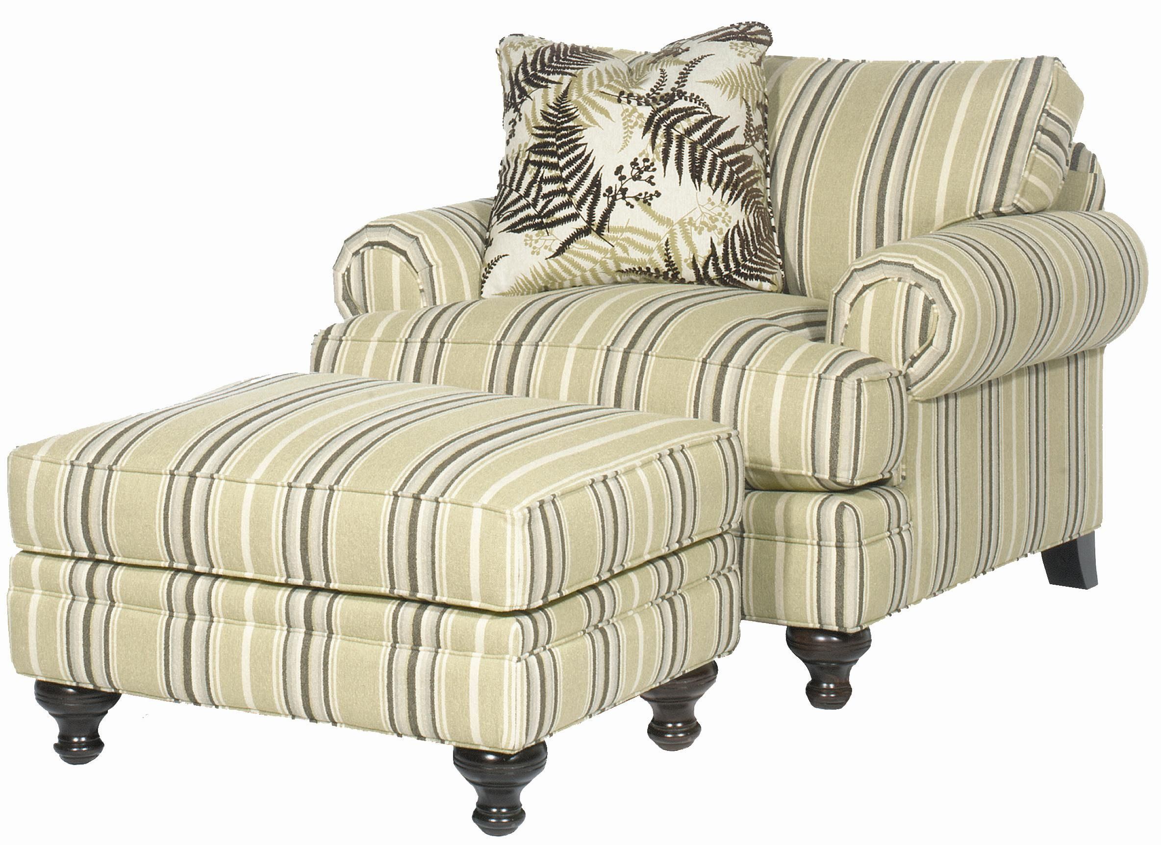 Paula Deen Home Chair and a Half and Ottoman by Paula Deen by