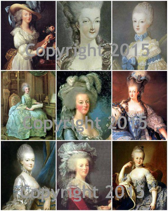 Printable Vintage Marie Antoinette 102 Collage Sheet  by joapan