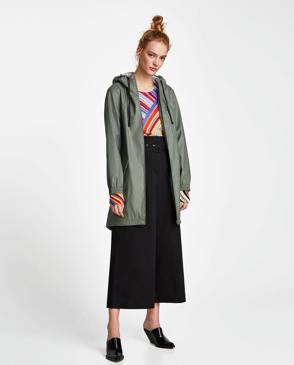 887b2c6d WATER REPELLENT RUBBERIZED PARKA Zara Women, Fashion And Beauty Tips,  Outerwear Women, Duster