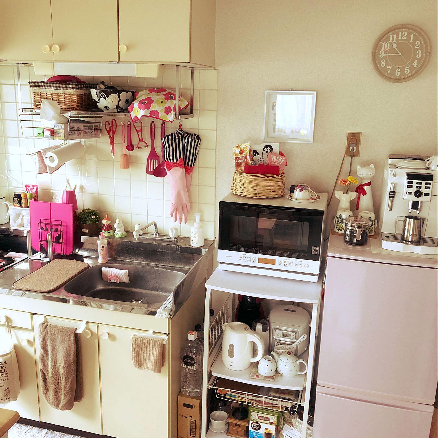キッチン 水回り 生活感 築30年以上 一人暮らし などのインテリア実例 2018 06 17 13 47 48 Roomclip ルームクリップ アパート生活 インテリア インテリア 実例