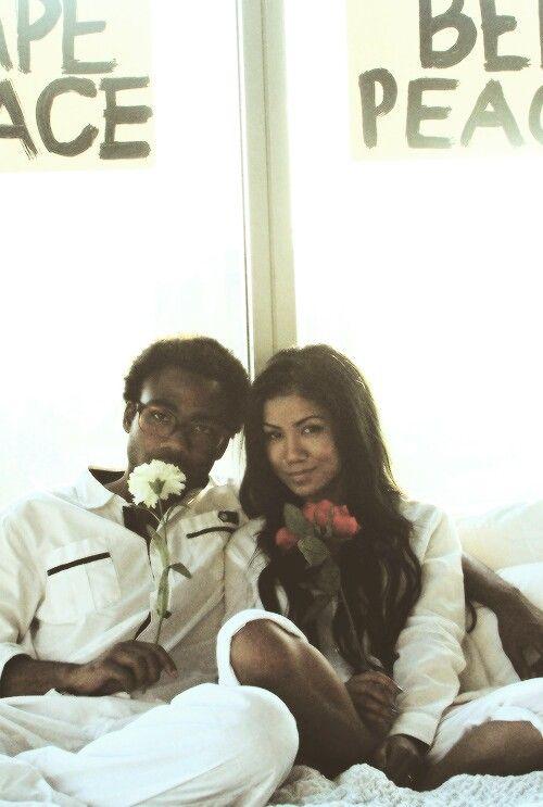 Donald Glover Childish Gambino Jhene Aiko Bed Peace With