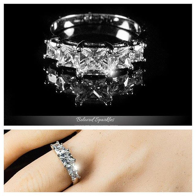 Pin for Later: 52 Princess-Cut Engagement Rings Fit For Real Royalty Edgy