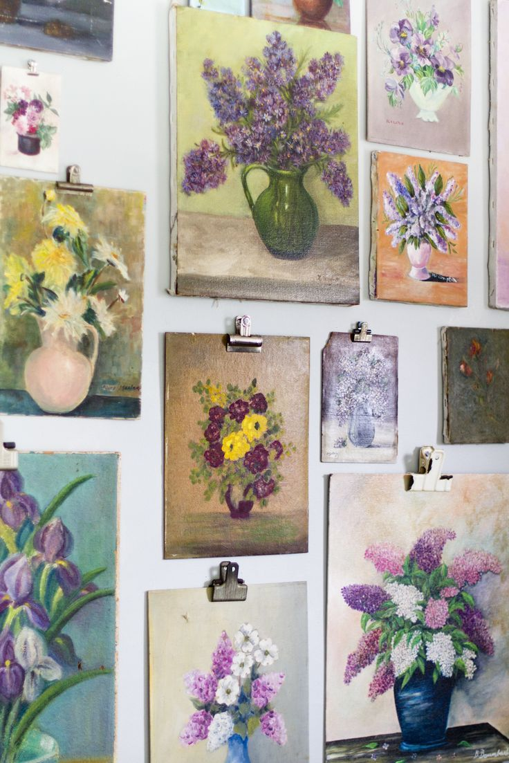 5 Alternatives for Hanging Art Without Frames | Pinterest | Deko