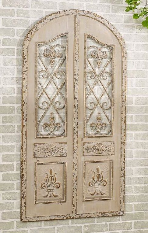 5 ft tall arched door french metal wall decor iron indoor outdoor 5 ft tall arched door french metal wall decor iron indoor outdoor fleur de ppazfo