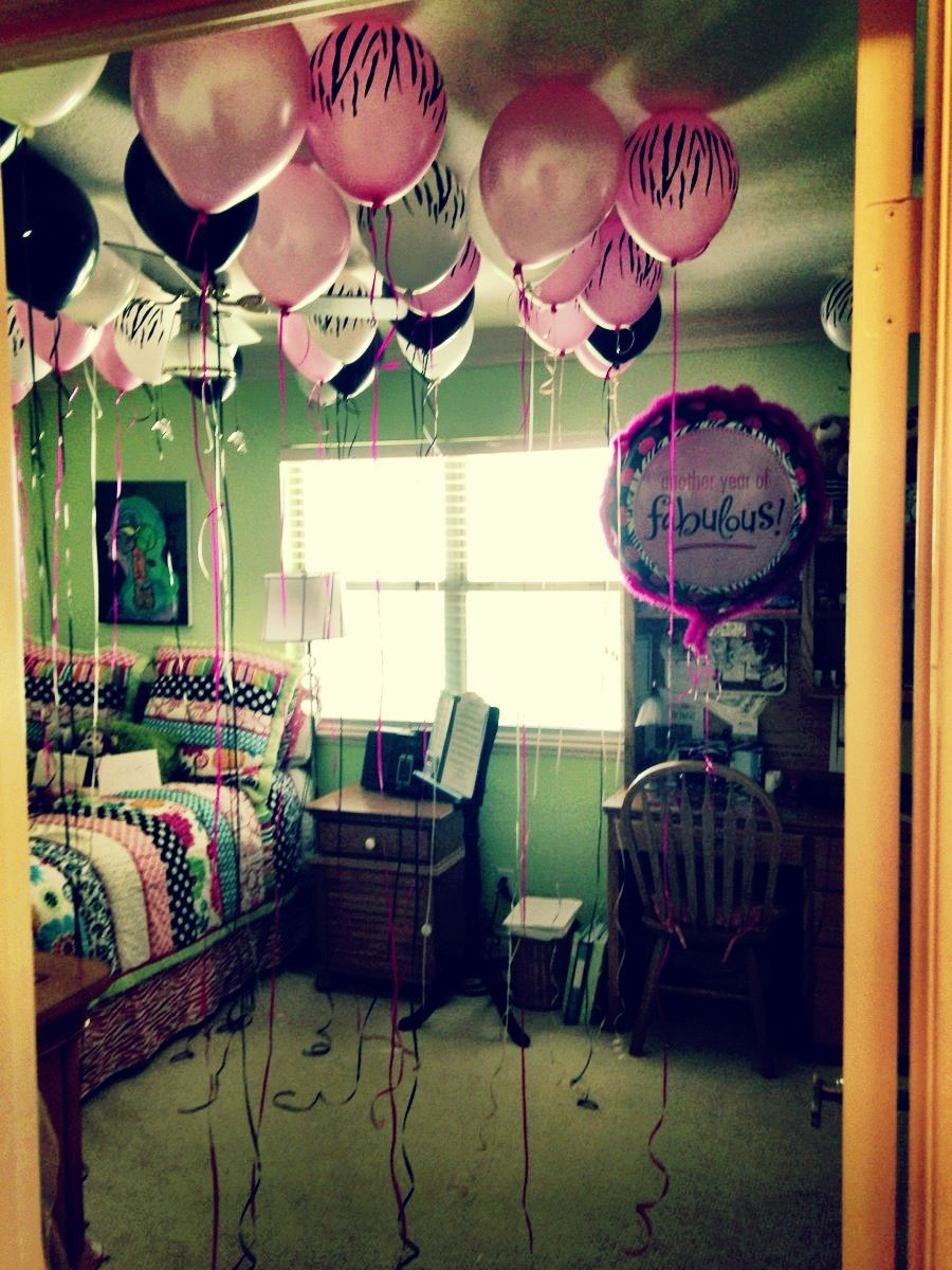 Fill A Room With Balloons For A Pleasant Birthday Surprise