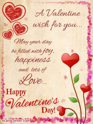 Valentines Day Wishes For Friends More At Ecardcorner Com Wise