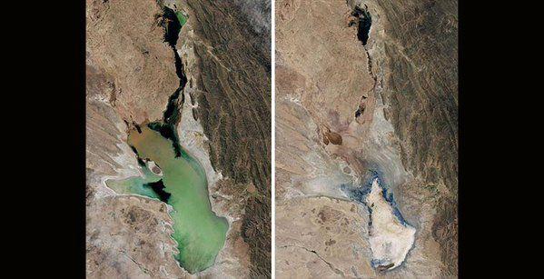 Lago Poopó Bolivia: Esempio di come l'uomo è in grado di evaporare un intero lago