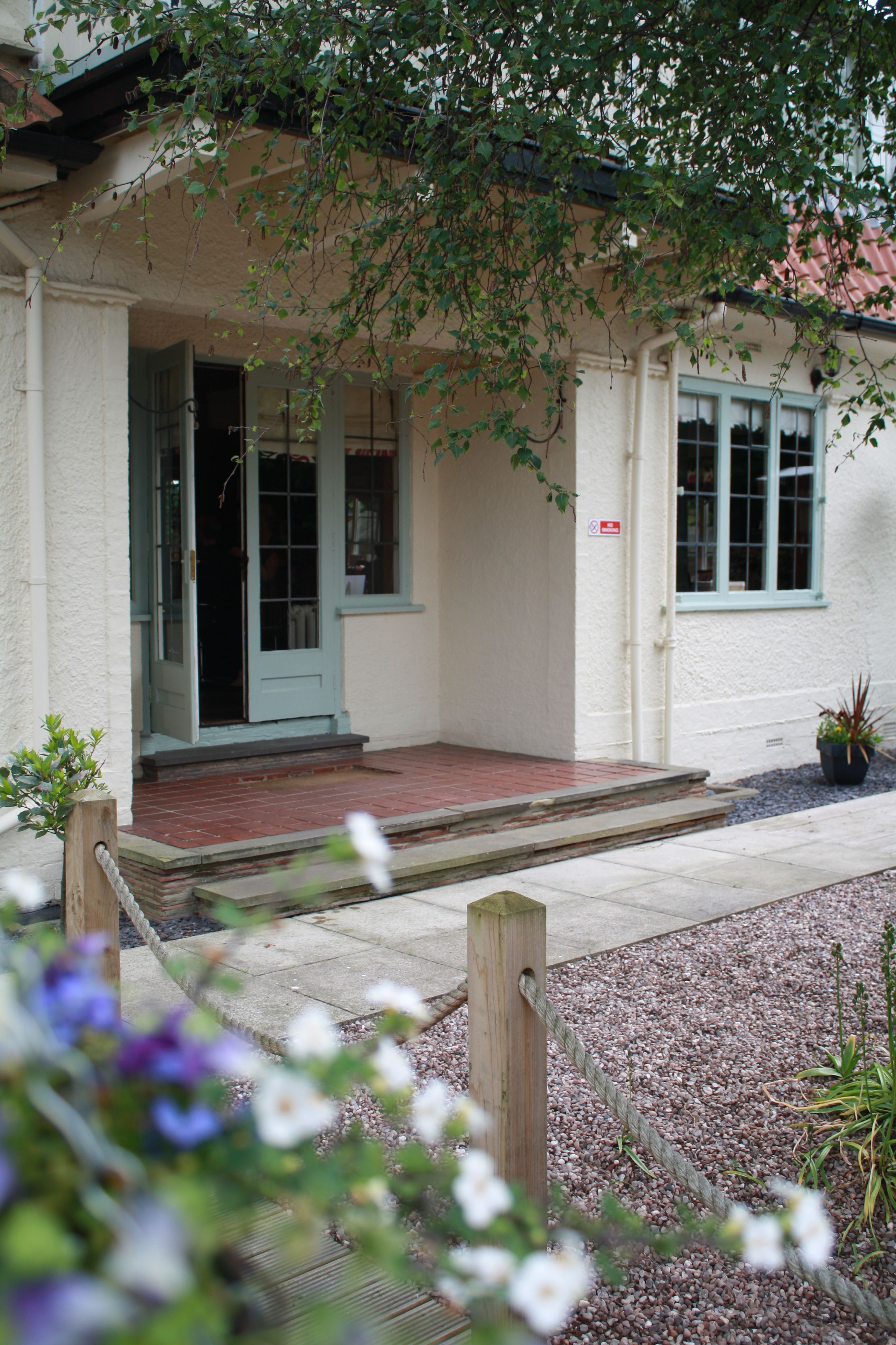 French Doors Lead From The Hair Salon To The Gardens With Plenty Of
