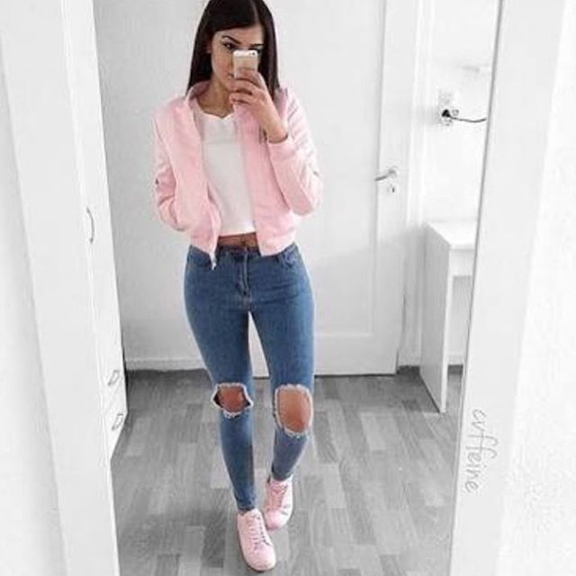 7 Cute Teen Girls School Outfits For Spring School Outfits