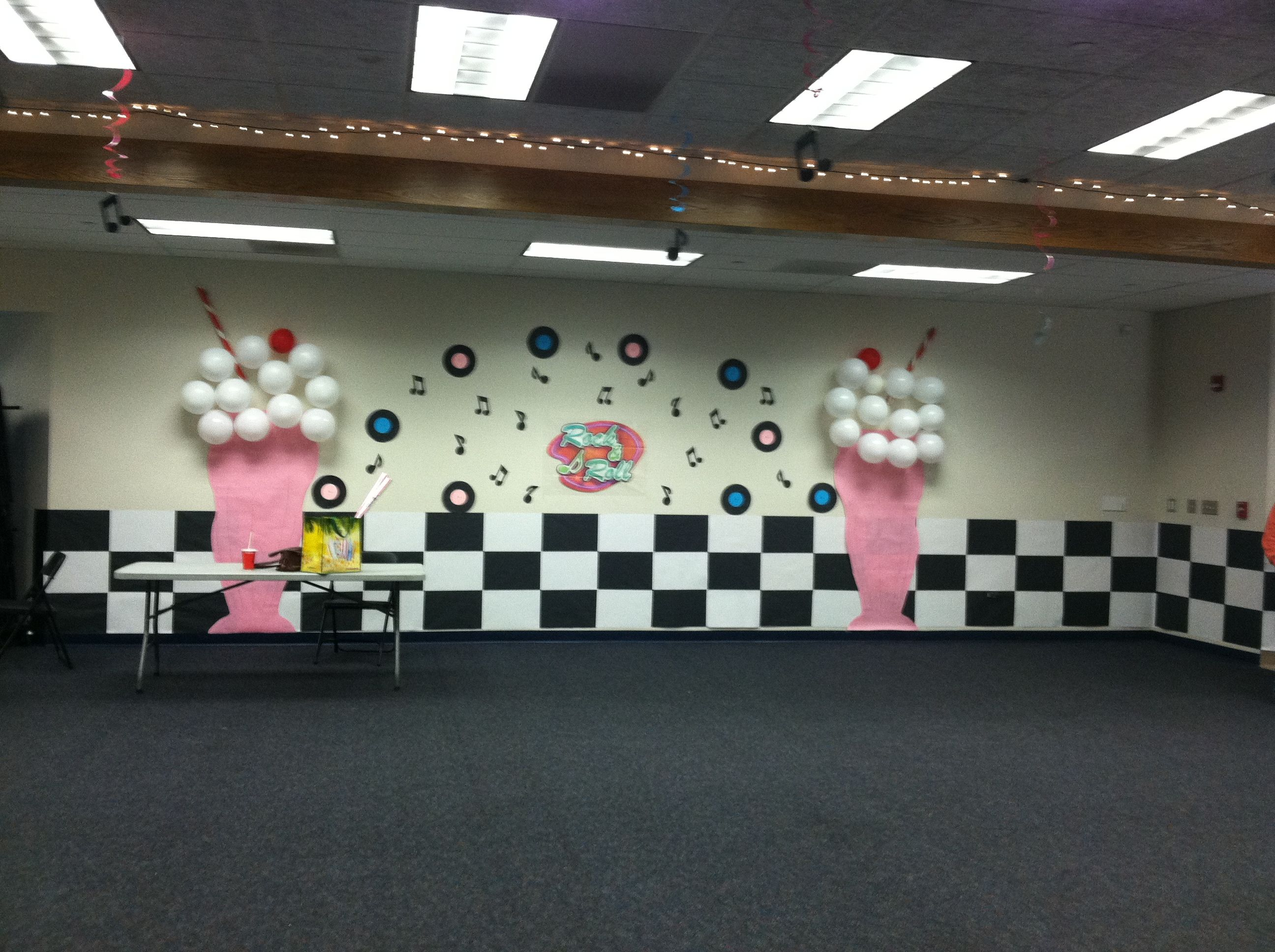 Sock Hop Decorations, Paper Milkshakes For Sock Hop Dance .