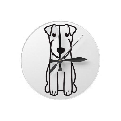 Parson Russell Terrier Dog Cartoon Clock Cartoon Dog Schnauzer Dogs Cartoon Wall