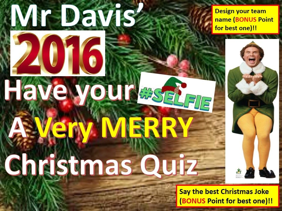 Christmas Quiz 2016 with answers for Secondary years