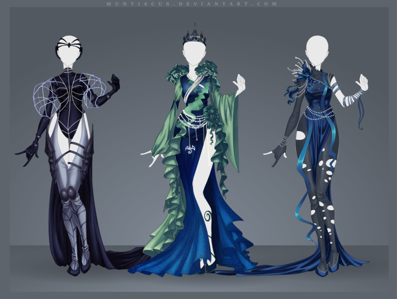 Blue blue set. First (left) - open Second - open Third (right) - open SB: 15$ (paypal) Min. Increase: 1$ AB: 40$ AB2: 50$ (I'll draw your OC on this base wearing this outfit) Auct...