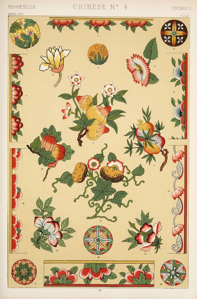 Jones, Owen, 1809-1874. / The grammar of ornament (1910) Chinese ...