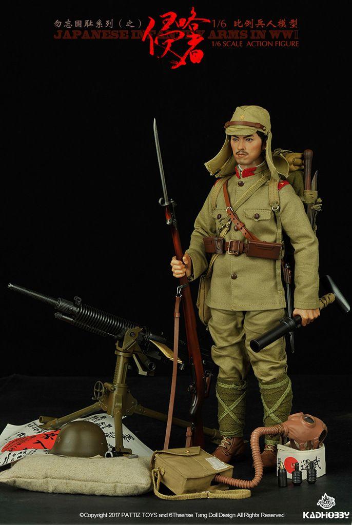1:6 Scale Soldier Model World war ii Japanese Rifle Plastic Model