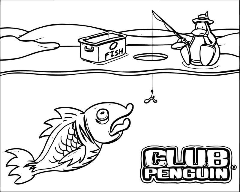 Club Penguin Club Penguin Catch Fish Coloring Page Fish Coloring Page Coloring Pages Club Penguin