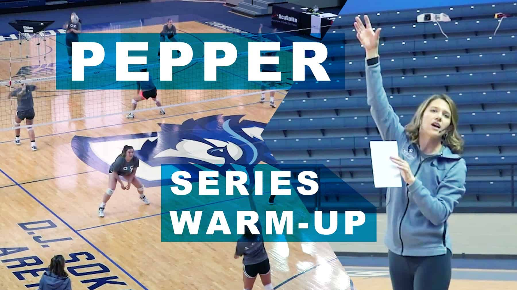 New Pepper Series Warm Up The Art Of Coaching Volleyball Coaching Volleyball Workout Warm Up Warmup