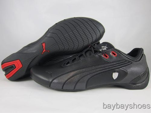 ba045361b38330 PUMA FUTURE CAT M2 SF BLACK SILVER CHROME RED FERRARI MOTORSPORTS MENS ALL  SIZES