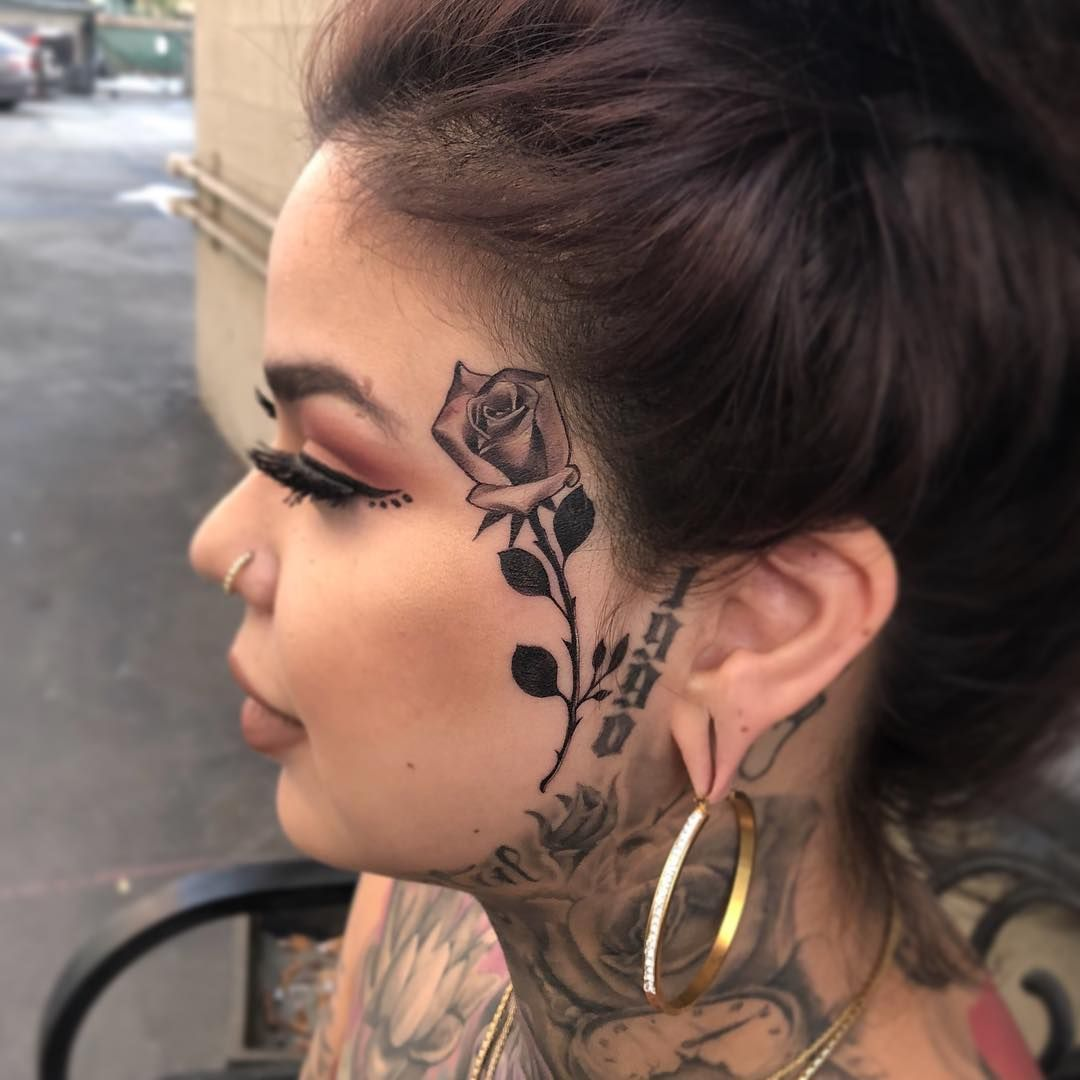 What Is The Difference Between Black Face Tattoo And Black And White Tattoo Tattoos Tattoos For Women Ta Face Tattoos For Women Small Face Tattoos Face Tattoo